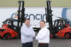John McNally, Encirc Logistics Manager Ireland & England is pictured alongside Kieron Holmes from the Alexander Group.