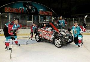 Goal!- Lakeland Tyres has teamed up with the Belfast Giants this season