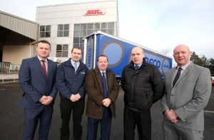 Pictured here are (l-r) Enda Cushnahan of SDC, Ricky Graham of Hireco, SDC's Mark Cuskeran, and Hireco Group's George Boyd and Sam O'Prey